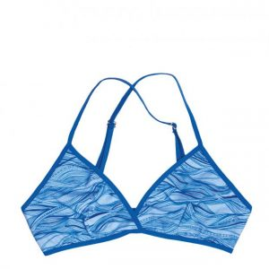 VATTER Triangle Bra Fine Frida blue waves L