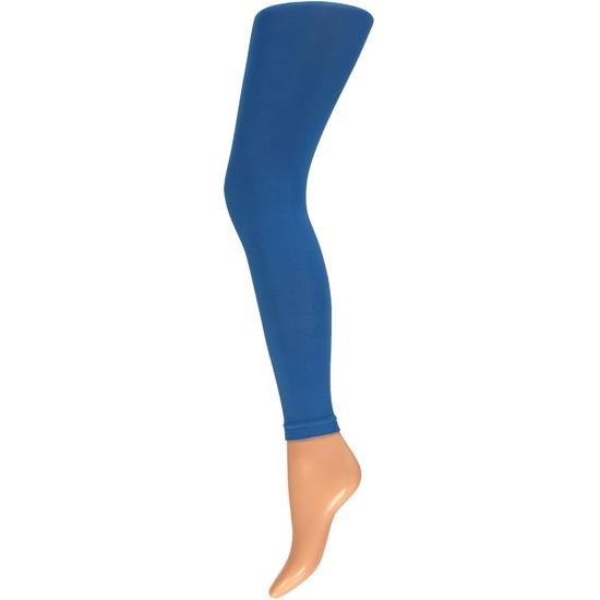 Basic leggings 200 denier kobalt blauw voor dames