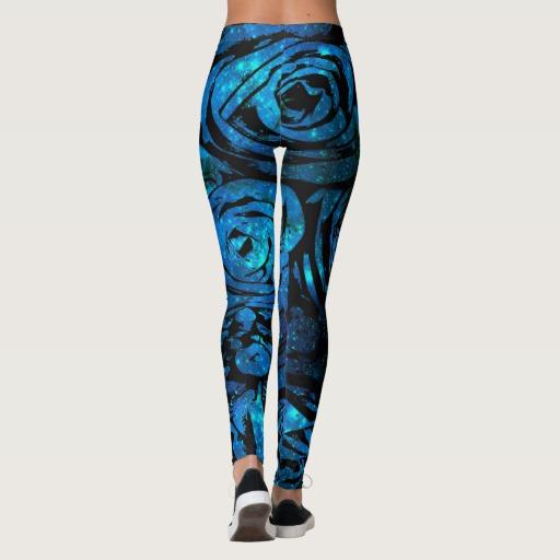 Blue Roses Leggings