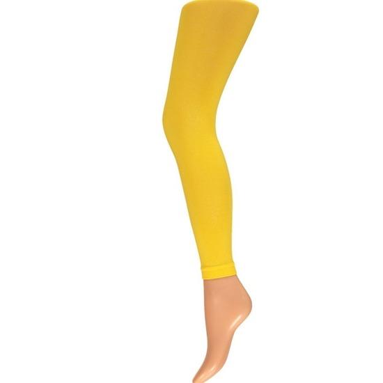 Gele legging 60 denier voor dames