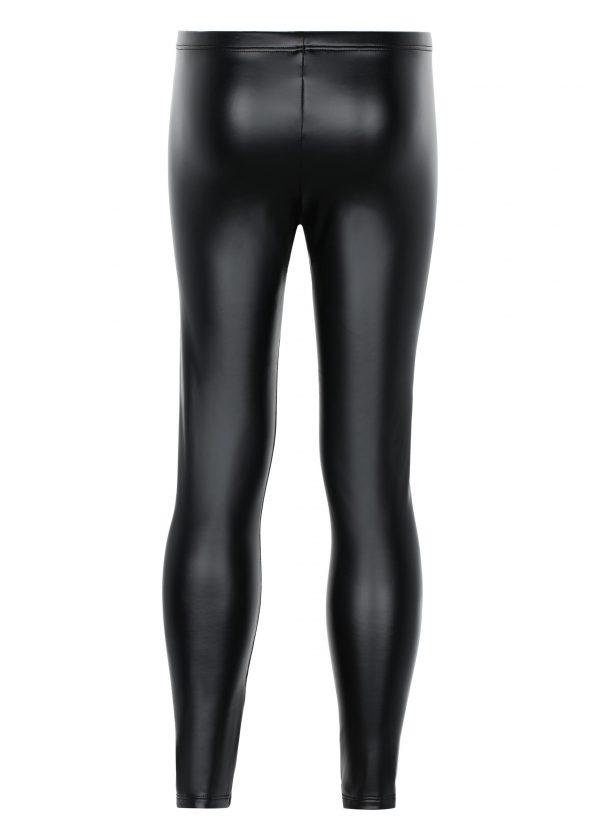 Girl's leather-effect leggings