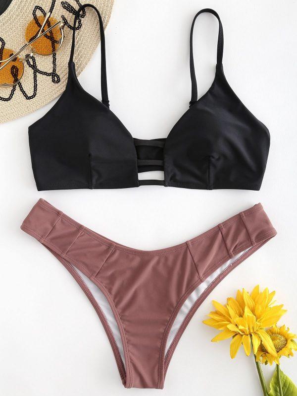 Lattice Bralette Bikini Set