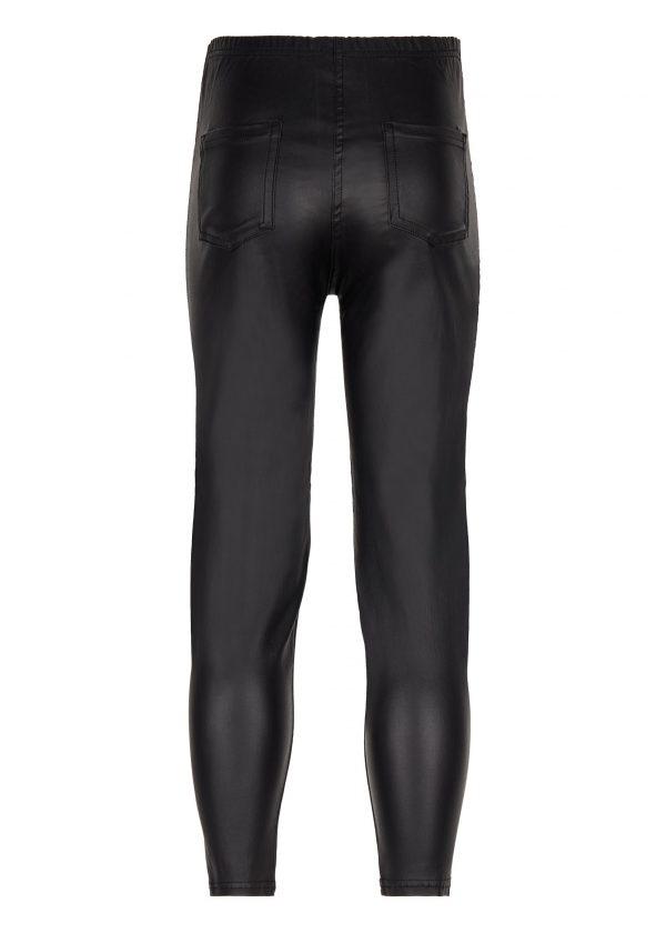 Leather-Effect Denim Leggings