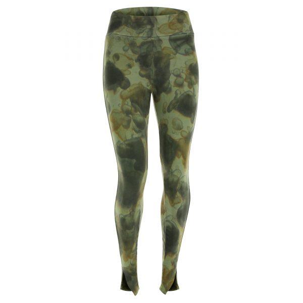 Leggings in felpa brushed camouflage