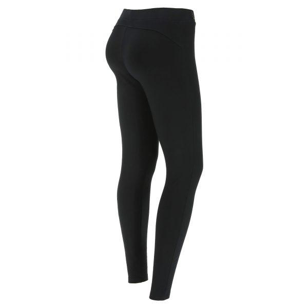 Leggings nero elasticizzato con stampe lucide