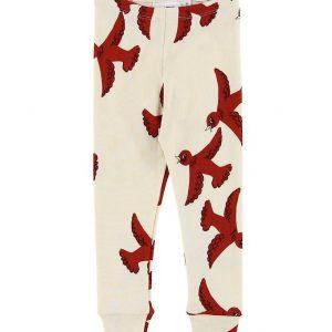 Mini Rodini Leggings - Flying Birds - Creme m. Fugle