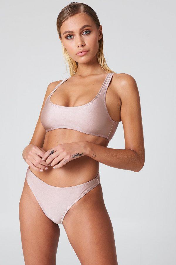 NA-KD Swimwear Sporty Bikini Briefs - Nude