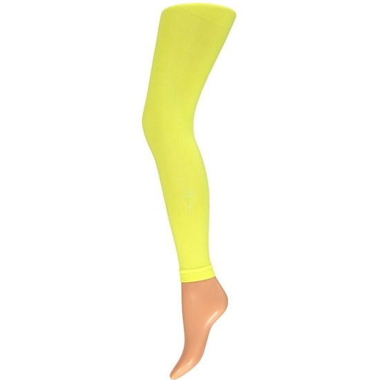 Neon gele legging 200 denier voor dames