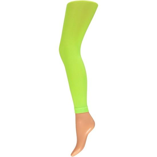 Neon groene legging 200 denier voor dames