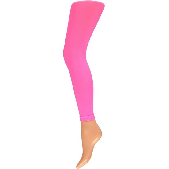 Neon roze legging 200 denier voor dames