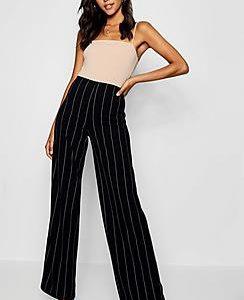 Tall Pinstripe Wide Leg Trousers