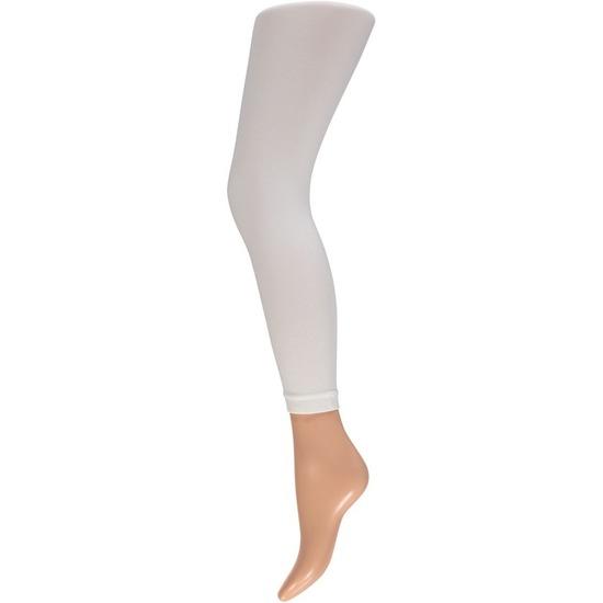 Witte legging 200 denier voor dames
