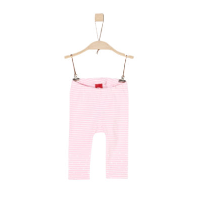 s.Oliver Girls Leggings light pink stripes - rosa/pink - Gr.74 - Pige